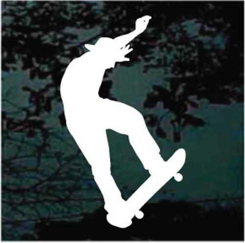Wicked Skateboarder Window Decal