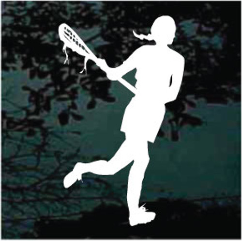 Lacrosse Player Silhouette Decals