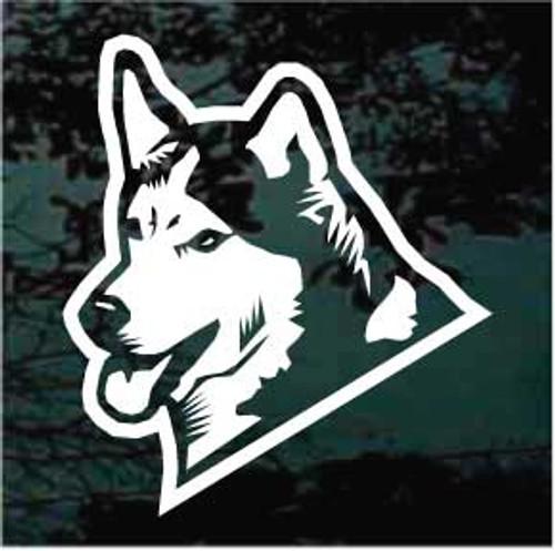 Car Window Sticker V01 Siberian Husky on Board Huskie Sled Dog Sign Decal