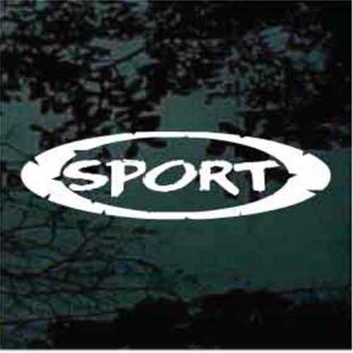 Split Oval Sport Decals