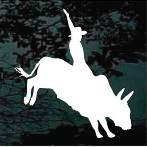 Bucking Bull Silhouette Bull Riding Window Decals