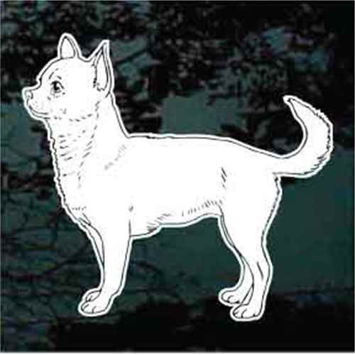 Short Haired Chihuahua Window Decals