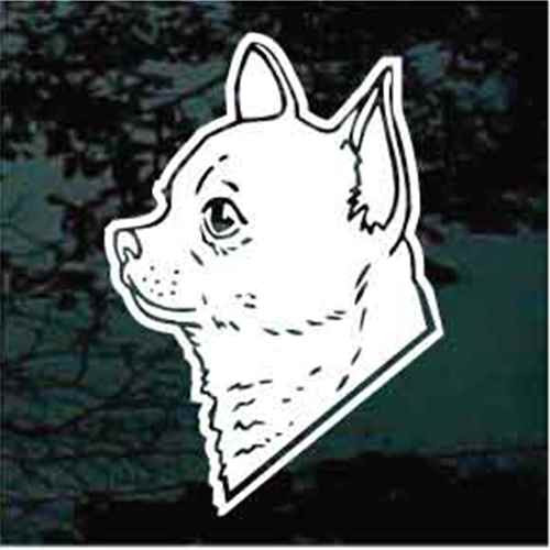 Apple Head Chihuahua Window Decal