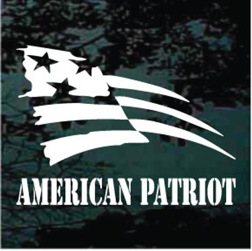 American Patriot Window Decal