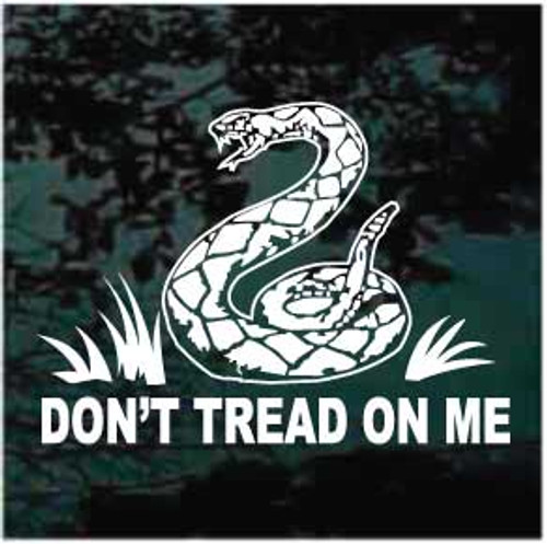Don't Tread On Me Window Decal