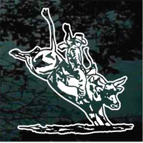 Cowboy Rodeo Bull Riding Window Decals