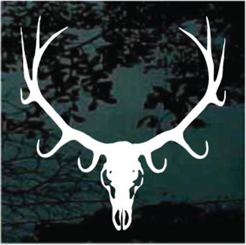Elk Skull Mounted Window Decals