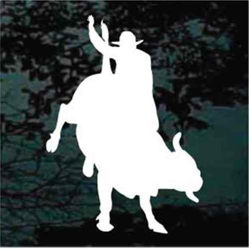 Solid Cowboy Bull Rider Window Decals