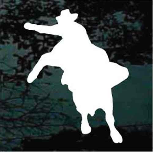 Bull Rider Cowboy Silhouette Window Decals