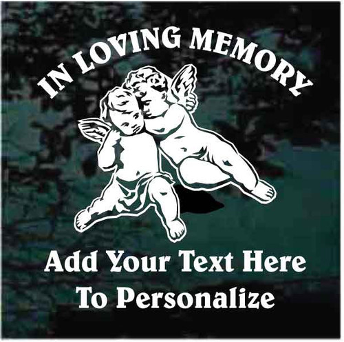 Cherub Twins Memorial Decals