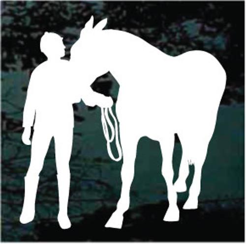 Horse & Jockey Silhouette