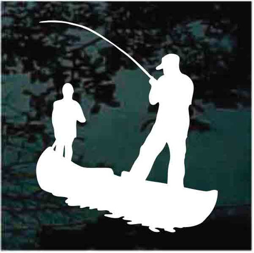 Canoe Fishing Decals