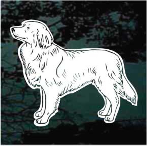 Standing Nova Scotia Duck Toller Window Decal