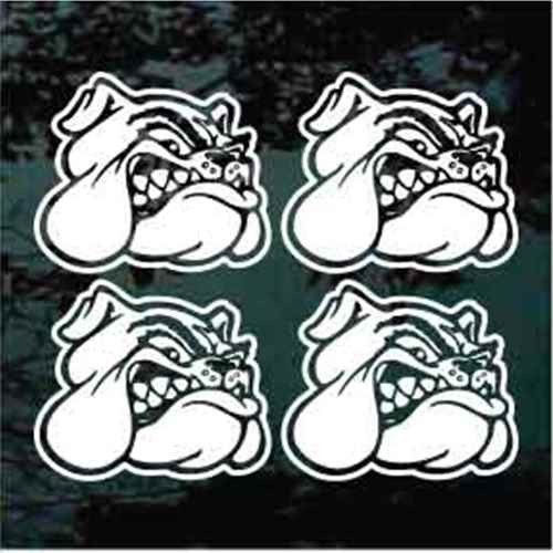 Bulldog Head 07 - 3'' Set of 4 Helmet Decals