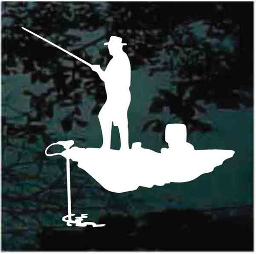 Bass Fisherman Trolling Decals