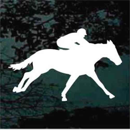 Jockey On Race Horse Decals