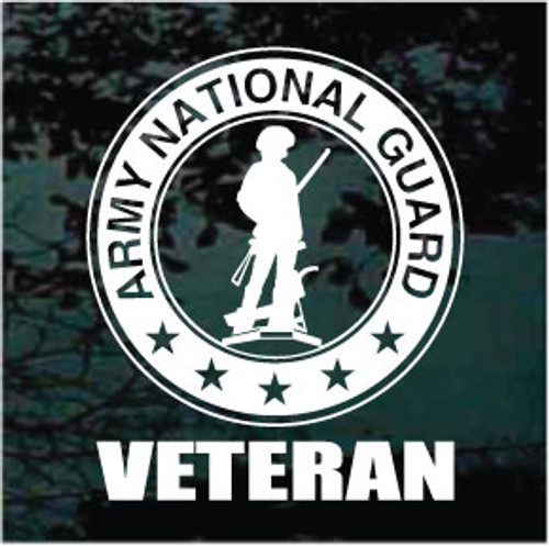 Army National Guard Veteran Window Decal