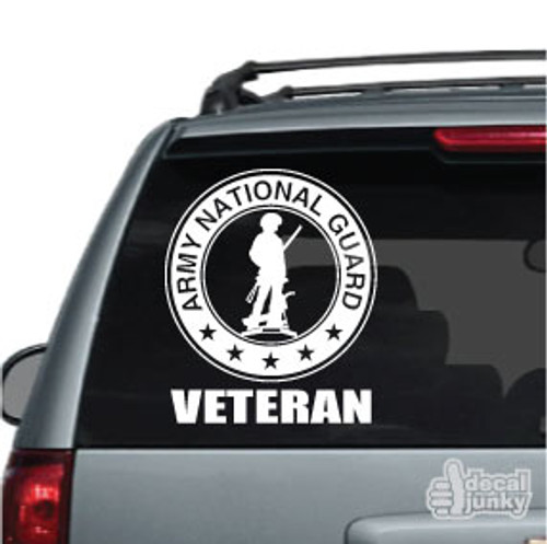 Army National Guard Veteran Car Decal