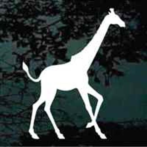 Giraffe Silhouette Window Decals