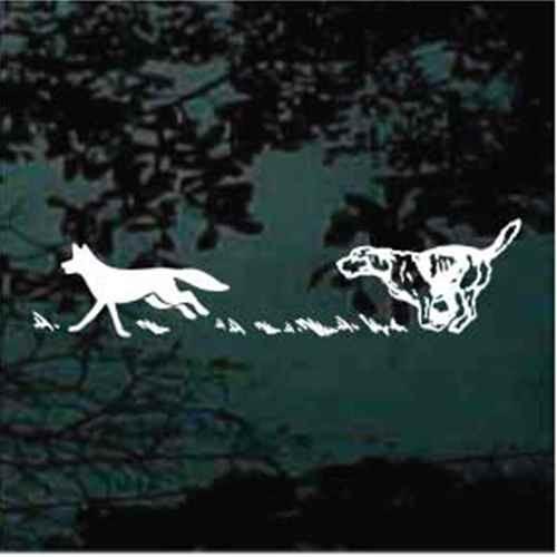 Dog Running Coyote Window Decals