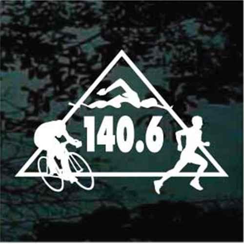 140.6 Full Ironman Triathlon Triangle Decals