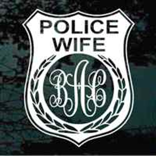 Police Wife Police Badge Monogram