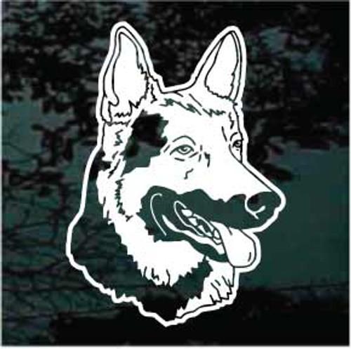 Friendly German Shepherd Head Decals