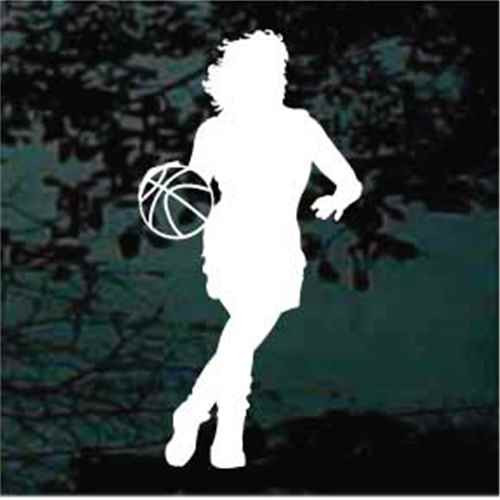 Basketball Girl Dribbling