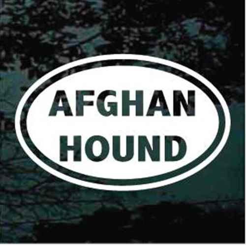 Afghan Hound Dog Oval Decal