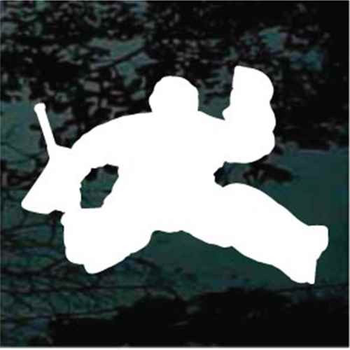 Silhouette Hockey Goalie Car Decals Window Stickers Decal Junky