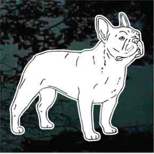 French Bulldog Detailed Window Decal