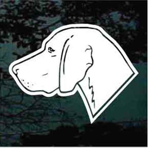 Simple Weimaraner Dog Head Decals