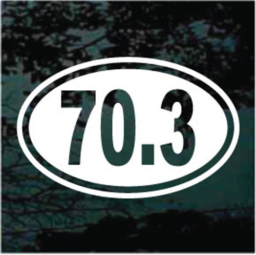 70.3 Half Ironman Triathlon 02 Decals