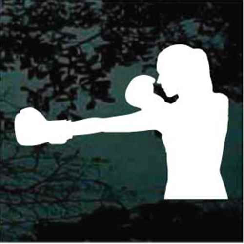 Woman Boxing Decals