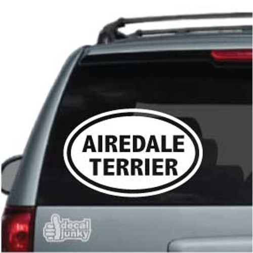 Airedale Terrier Oval Car Decal