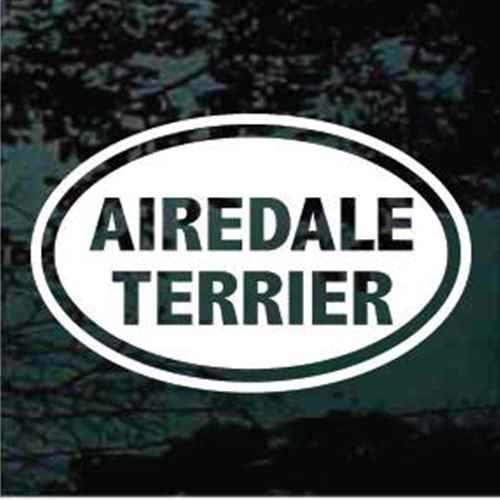 Airedale Terrier Oval Window Decals