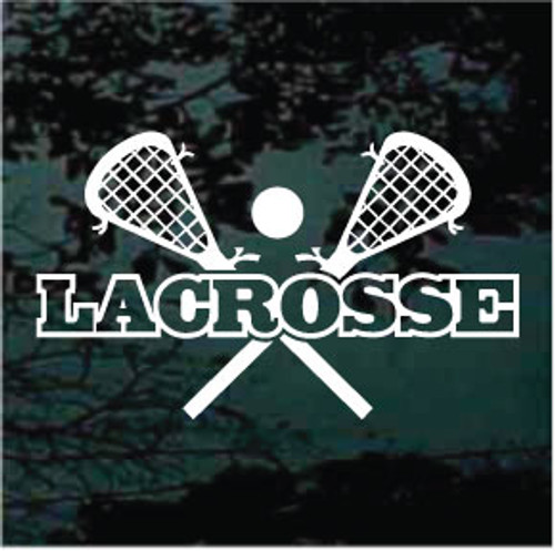 Lacrosse Sticks Crossed Design