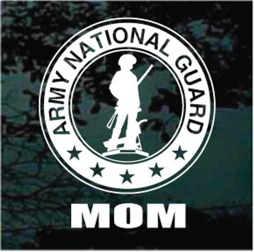 U.S. Army National Guard Logo Family Window Decal