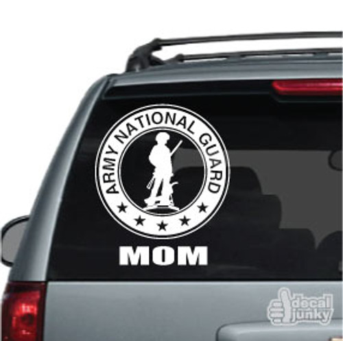 U.S. Army National Guard Logo Family Car Decal