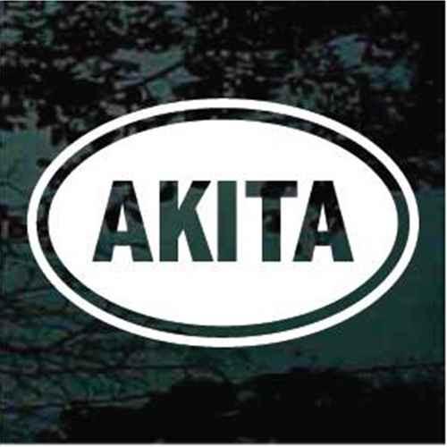 Akita Oval Window Decal