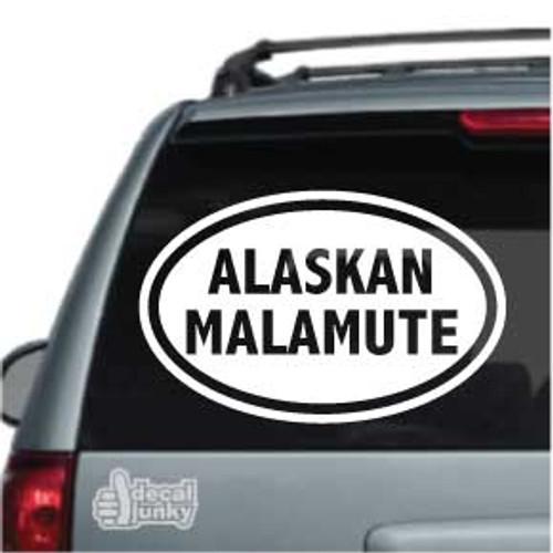 Alaskan Malamute Oval Car Decal