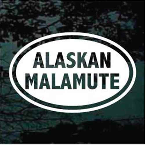Alaskan Malamute Oval Window Decal