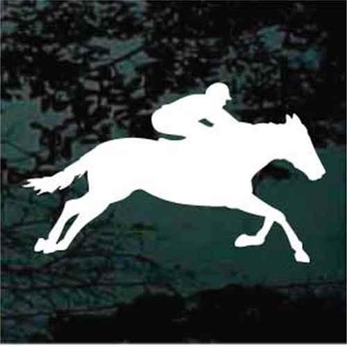 Race Horse Running With Jockey