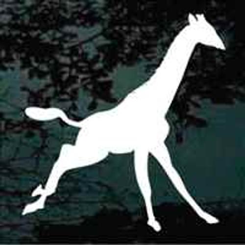 Giraffe Running Decal