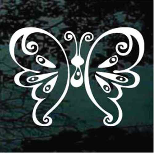 Poised Butterfly Window Decals
