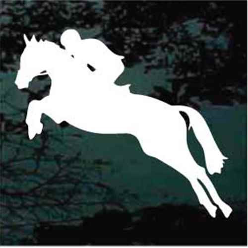 Horse Racing Equestrian Horse Jumping Decals