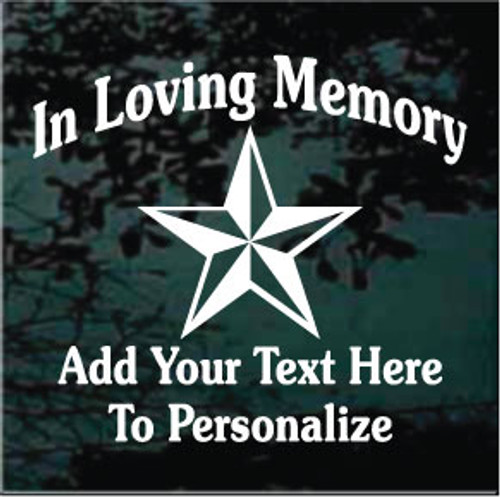 Nautical Star Memorial Decals