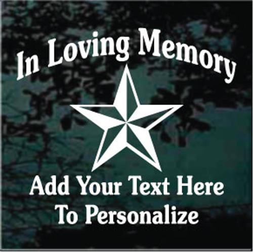 Nautical Star Memorial Decals