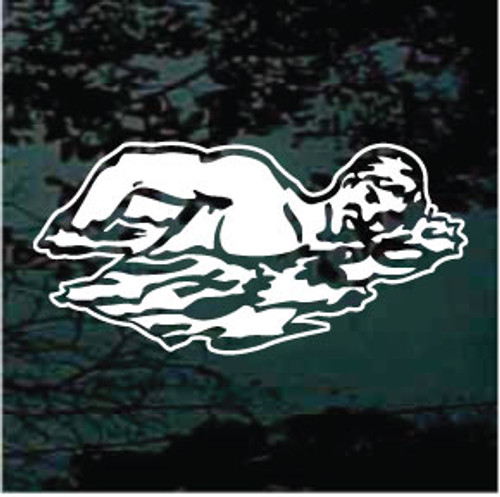 Detailed Swimmer In Water Decals