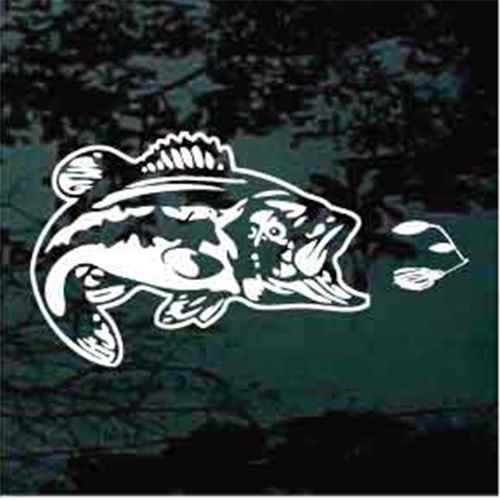 Realistic Bass Fish with Lure Decals
